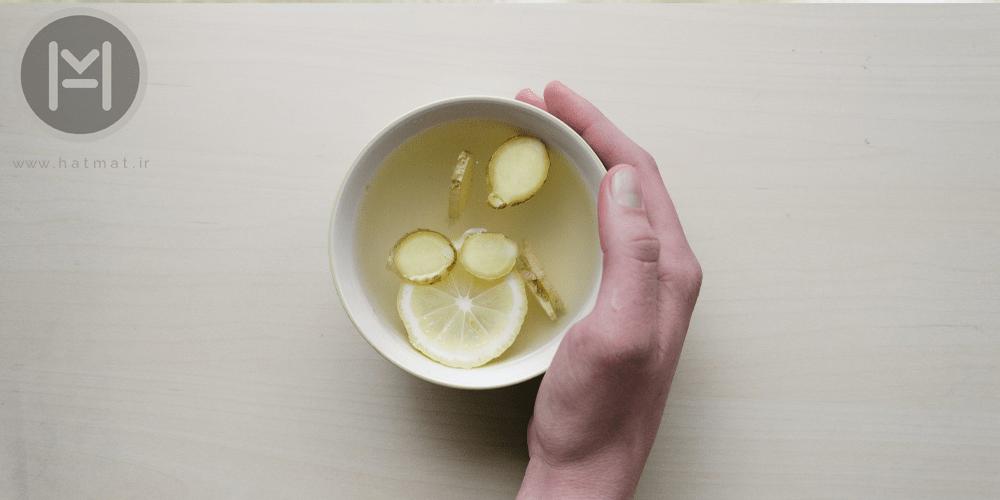 دمنوش به لیمو